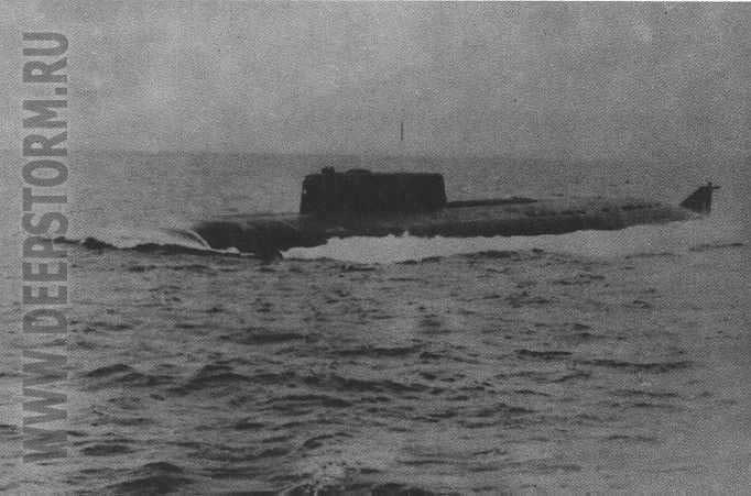 гибель советской подводной лодки в 1983 году